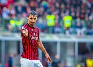 Piłkarz Milanu Szwed Zalatan Ibrahimovic