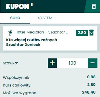 Rzuty rożne BETFAN Liga Europy 17.08.