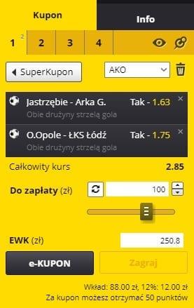 Fortuna I Liga - kupon