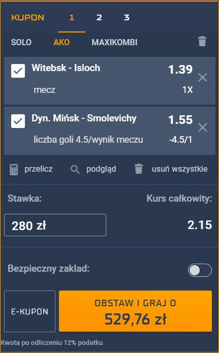 Białoruś STS na 07.08.