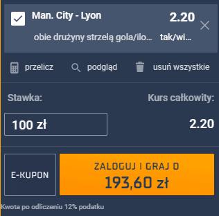 kupon single liga mistrzów sobota