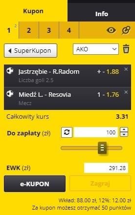 3. kolejka Fortuna I Ligi - kupon