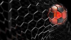 Piłka czerwona siatka