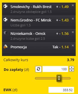 Białoruś i KHL 18.09. Fortuna