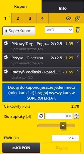 Fortuna I Liga - wrzesień - kupon