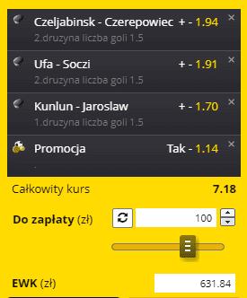 Fortuna na 22.09. KHL
