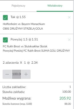 Bundesliga + Białoruś PZBUK 27.09.