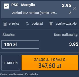 kupon single niedziela ligue 1 przemek