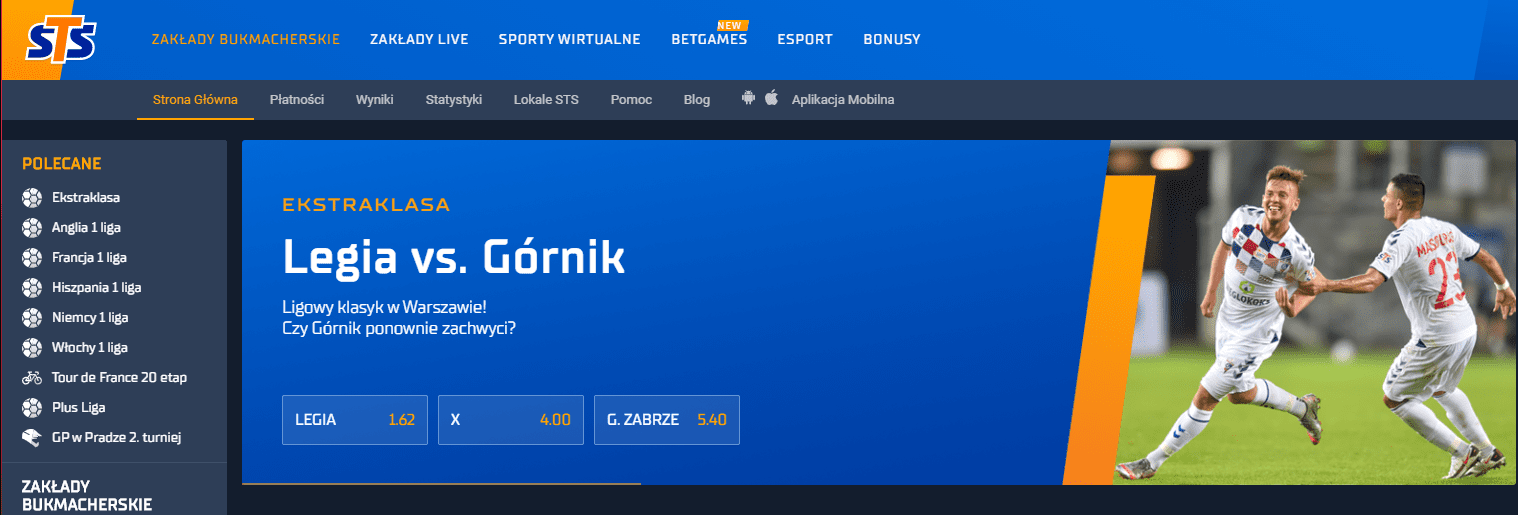STS screen strony startowej