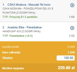 kupon double euroliga 08.10.2020