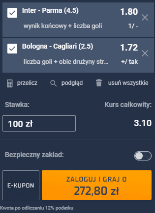 kupon double serie a 31.10.2020