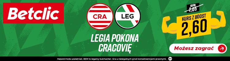 betclic bonus baner Legia Cracovia