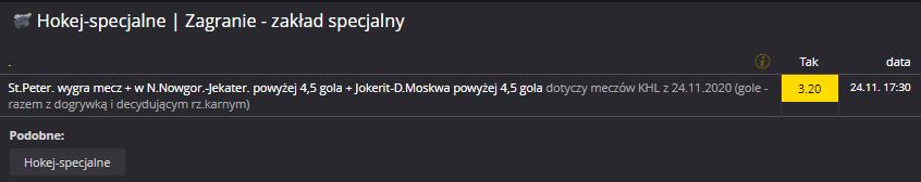 KHL Fortuna specjal na 24.11.