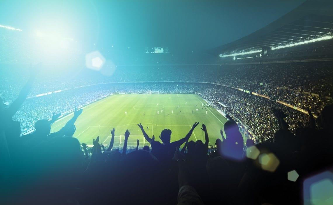 Stadion światło ludzie