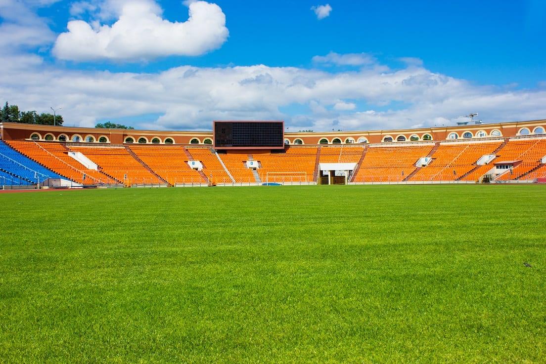Stadion Białoruś w dzień