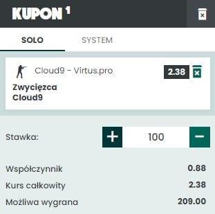 Betfan Cloud9 vs. Virtus.pro