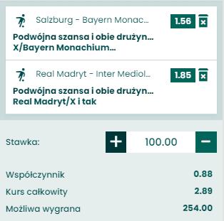 kupon double liga mistrzów 03.11.2020