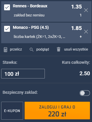 kupon double ligue 1 20.11.2020