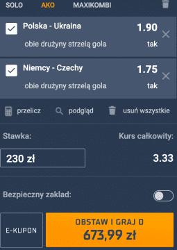 kupon na mecz Polski