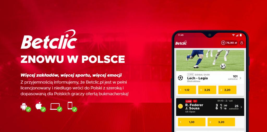 Betclic - bonus Polska