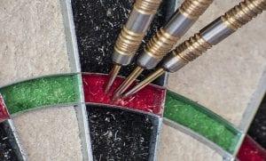 tablica do darta z lotkami