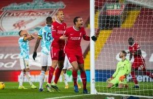 Joel Matip po bramce - Liverpool vs Wolves, 27.12