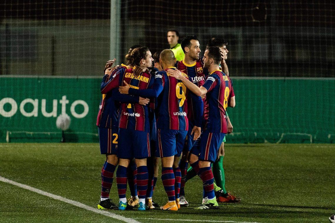 Zawodnicy Barcelony