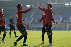 Bruno Fernandes, Manchester United 20/21, zdj na kupon PL 20.01