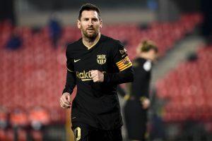 Leo Messi w meczu Barcelony