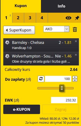 kupon FA Cup fortuna 11.02