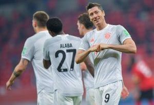Lewandowski w meczu z Al Ahly