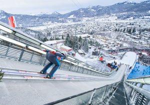 Najazd skoczni w Oberstdorfie