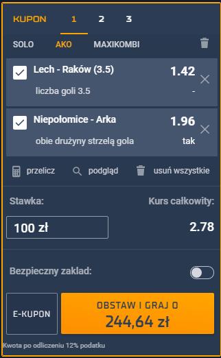 dubel puchar polski 2.03 sts