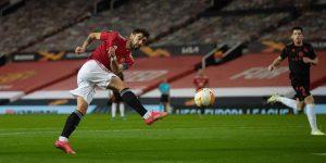 Bruno Fernandes strzela - Manchester City vs Manchester United PL 07.03