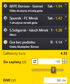 AKO Białoruś na 03.04.