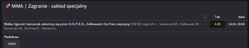 KSW 60 typy