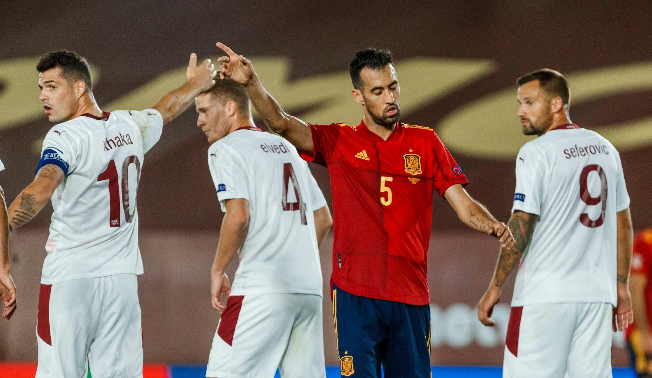Szwajcaria w meczu z Hiszpanią Euro 2020