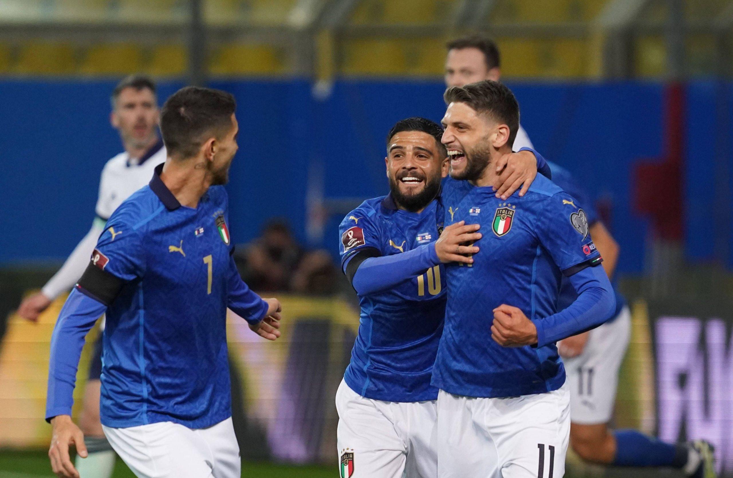 Włochy po zdobytym golu Euro 2020