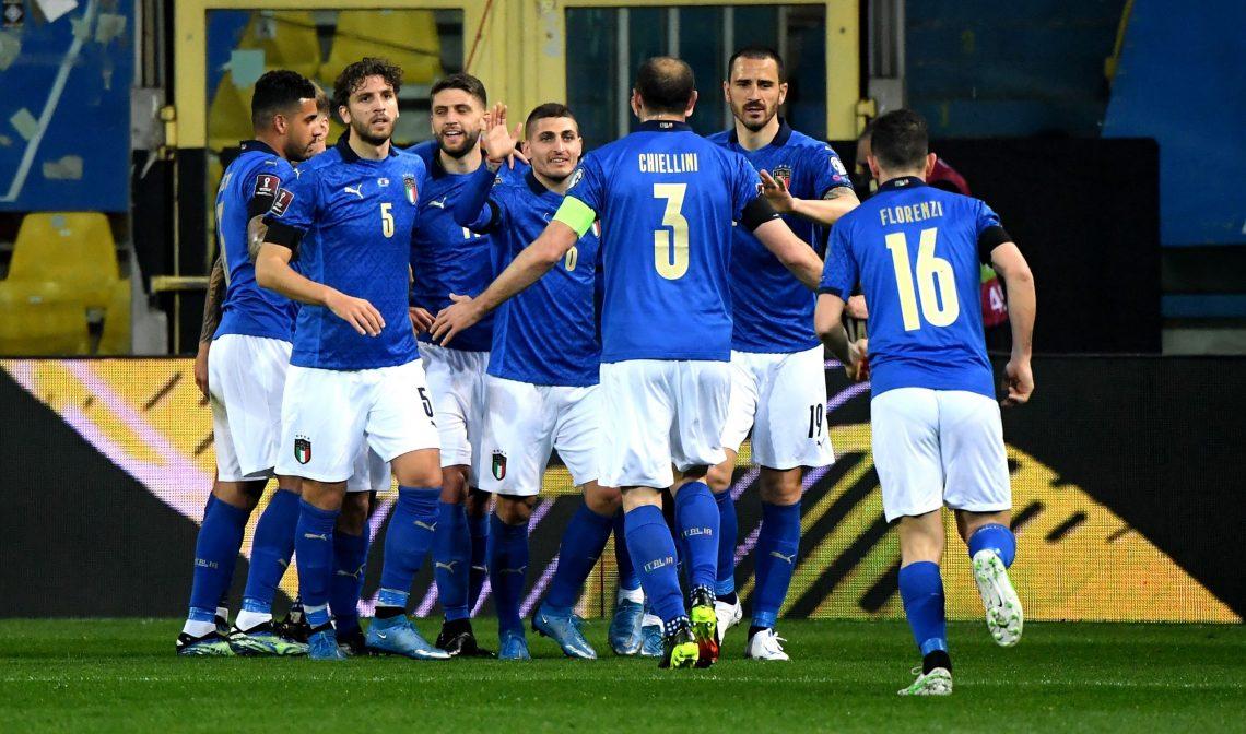 Włochy po strzelonej bramce - Euro 2020