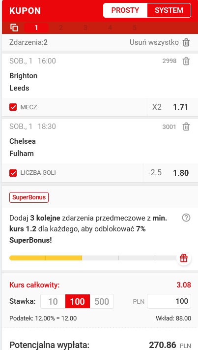 kupon PL superbet 01.05