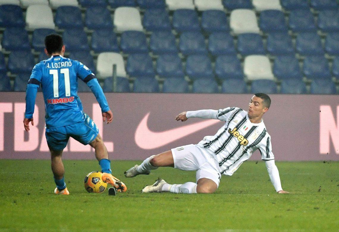 Hirving Lozano oraz Cristiano Ronaldo