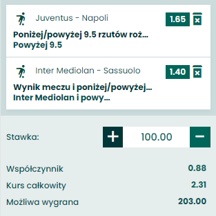 kupon double serie a, 07.04.2021