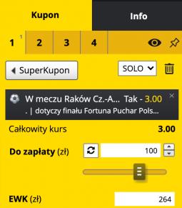 kupon finał Pucharu Polski