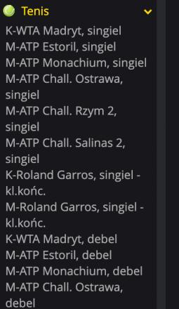 tenis zakłady fortuna