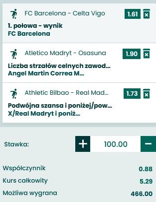 kupon 16.05 La Liga