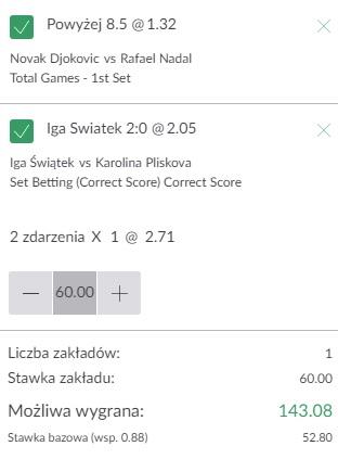 16.05 - tenis ATP i WTA Rzym