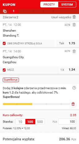 Superbet na 14.05. Chiny