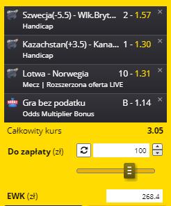 MŚ Fortuna na 28.05. 1 kupon