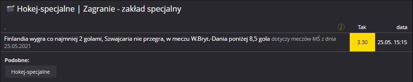 MŚ 25.05. Fortuna zakład specjalny