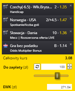 Fortuna MŚ 29.05. Handicap